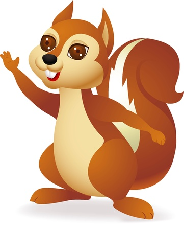 chipmunk: illustration of Cute squirrel cartoon