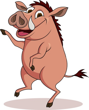 illustratie van Warthog cartoon