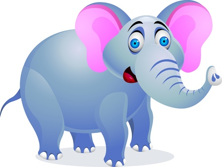illustration of Elephant cartoon  Vector