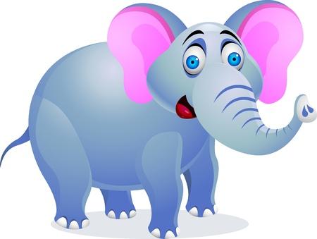 illustration of Elephant cartoon  Vector
