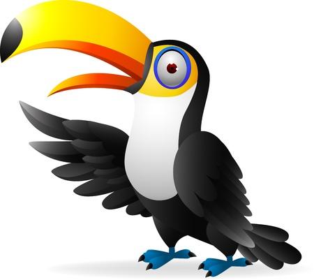 central park: illustratration of Toucan bird waving