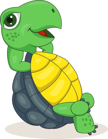illustration of Turtle relaxing  Vector