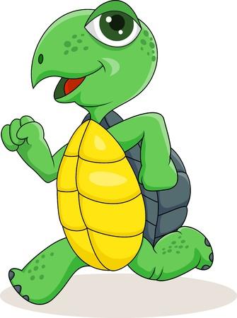 illustration of Turtle running