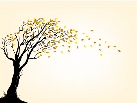 wind up: illustration of Autumn tree