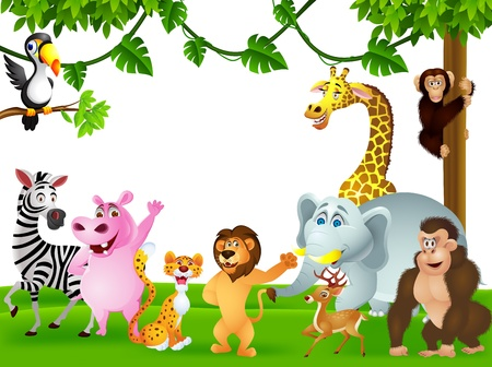 illustration of animal cartoon Vector