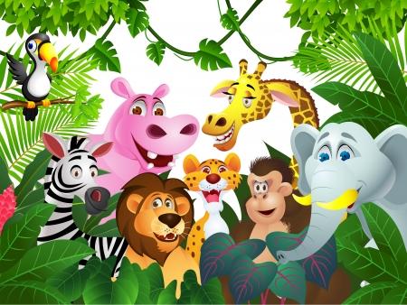 selva: Ilustraci�n de dibujos animados de animales Vectores