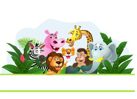 Ilustración de dibujos animados de animales Ilustración de vector