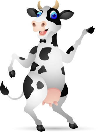 dairy: Illustration Of Cow Cartoon