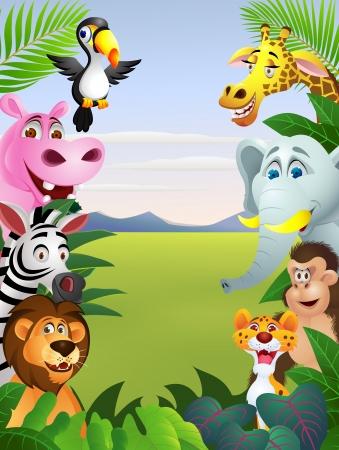 Illustration Of Animal Cartoon Vector