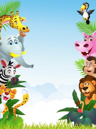 mountain lions: Illustration Of Animal Cartoon
