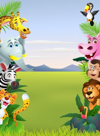 cartoon jungle: Illustration Of Animal Cartoon