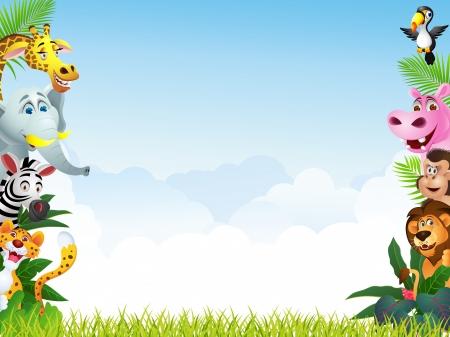 savanna: Illustration Of Animal Cartoon
