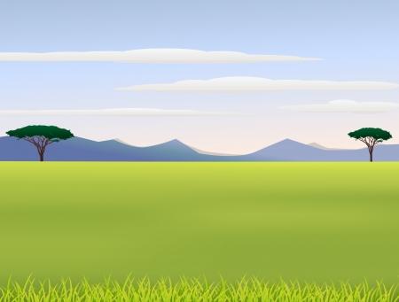 Illustratie van de Afrikaanse landschap