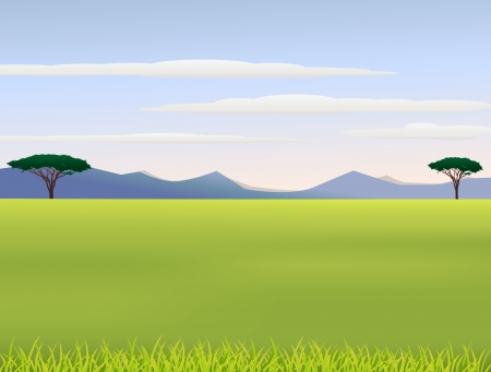 Illustration Of African landscape Vector