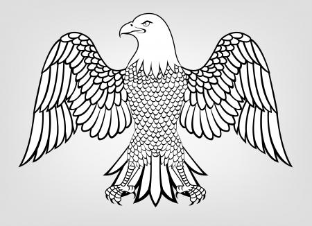 patriotic eagle: Illustration Of Eagle Mascot