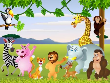 wildlife: Animal cartoon