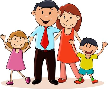 Imagen de una familia feliz en caricatura - Imagui
