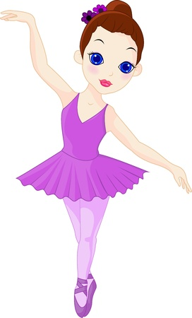 A little ballerina Vector