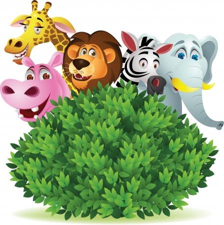 Funny cartoon animal salvaje Ilustración de vector