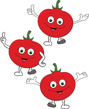 Tomato cartoon character Vector