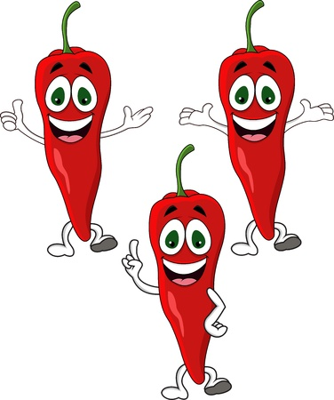 Chili cartoon character Vector