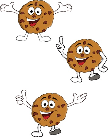 biscuits: Cookies cartoon character Illustration