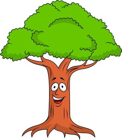 single tree: Tree cartoon character
