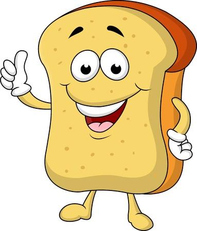 levure: Tranche de personnage de dessin anim� de pain