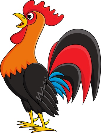 huhn: Rooster cartoon Illustration