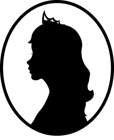 Princess silhouet Vector Illustratie