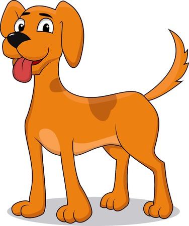 dog nose: Cane cartone animato felice Vettoriali