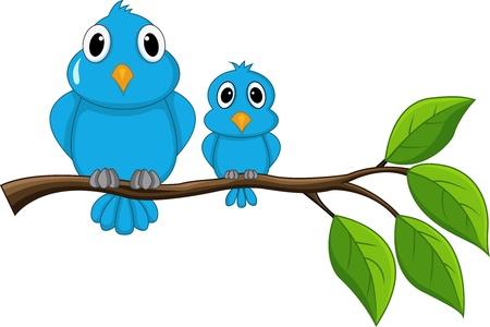 ramo di ciliegio: Uccello seduto sul ramo