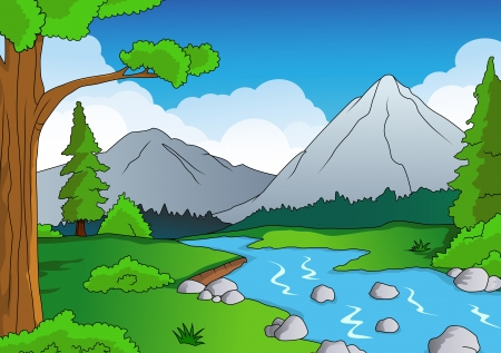 Natur Wald Hintergrund Vektorgrafik