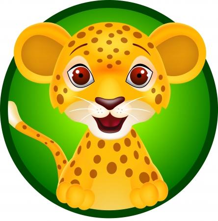 Dětská leopard Ilustrace