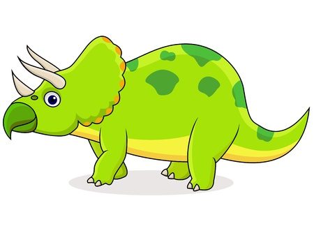 herbivorous: Triceratops cartoon Illustration