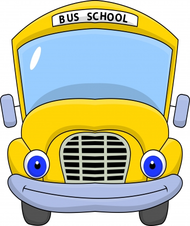 School bus cartoon character Stock Vector - 15234347