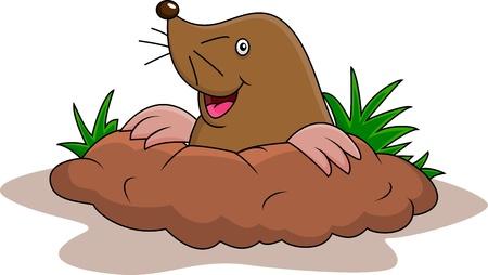 e Happy mole cartoon