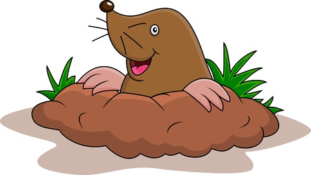 e Happy mole cartoon Stock Vector - 15234317