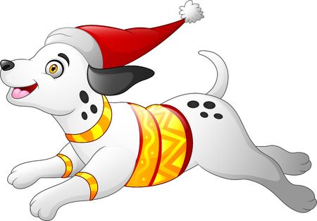 Christmas dalmatian dog 免版税图像 - 112871954