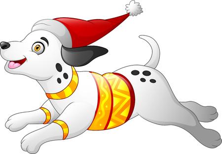 Christmas dalmatian dog