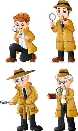 Cute Cartoon Detectives collection set
