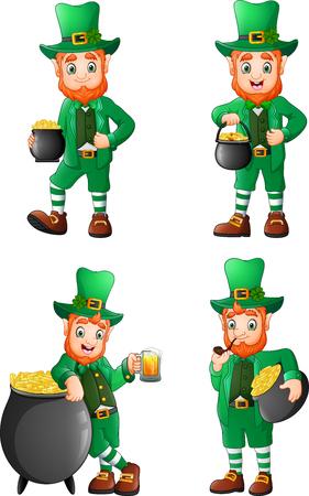 Cartoon leprechaun collections set