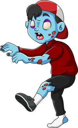 Cute Zombie standing and walking Ilustração