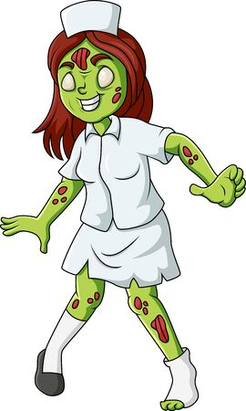 Cute Zombie standing and walking Illustration
