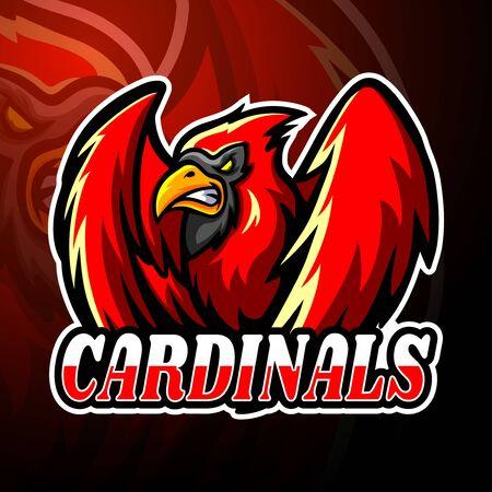 Cardinals esport logo mascot design Logo