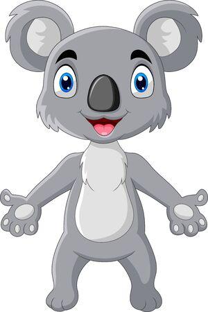 cartoon funny koala a standing