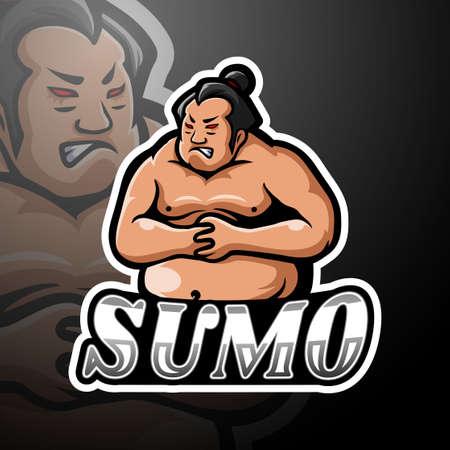 Sumo esport logo mascot design