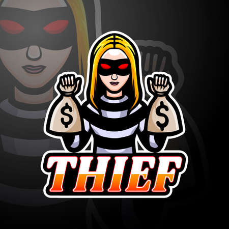 Thief esport logo mascot design