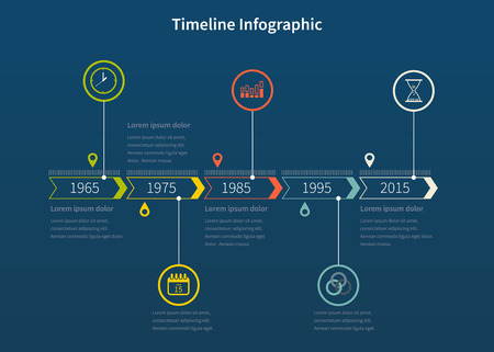 Timeline design template with icons and graphics. Idea to Display information, Steps for industrial factory, Ranking and statistics
