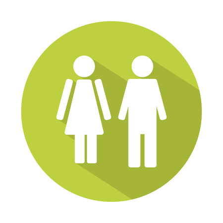 manhood: Male and female WC icon denoting toilet and restroom facilities for both men and women Illustration